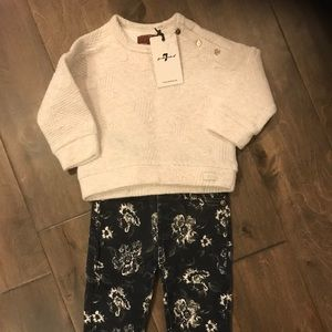 7 for all Mankind floral jean set